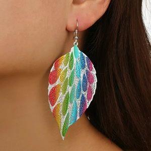 Mimi Rainbow Leaf Dangle Earrings